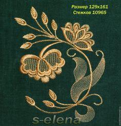 Купить Дизайн машинной вышивки Ретро 2 - золотой, вышивка, Машинная вышивка, дизайн, цветы