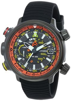 Promaster Altichron combines Eco-Drive technology with an altimeter measuring a range of -1000 to 32,000 feet and electronic compass for the ultimate adventure-seeking timepiece. Light-weight titanium