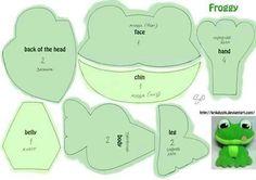 frog stuffed toy pattern green animal Sapo