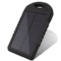 SG® Sport Solar Panel Charger Power Bank 5000mAh Shock/Dust Resistant - Protect your investment * Best Lifetime Guarantee * (Black)    List Price:	$64.99 Price: $35.97