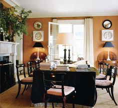 cozy dining room -- love the wall color