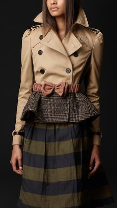Cotton Tweed Heritage Jacket | Burberry