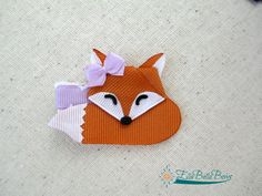 Sleepytime #Fox #RibbonSculpture Hair Clip by #EllaBellaBowsWI To see this and more visit me on Etsy or FB.