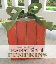DIY Pumkin Crafts : DIY wood pumpkin