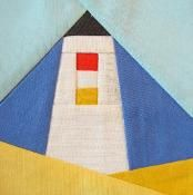 Lighthouse  paper piecing quilt block - via @Craftsy