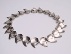 Necklace designed by Nanna Ditzel for Anton Michelsen Denmark c.1960 Sterling silver