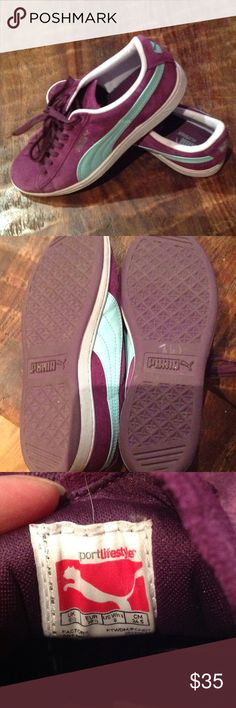 ae33920e4c5 Near new PUMA sneakers Purple suede