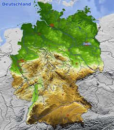 Reliefkarte von Deutschland & Maria Rau Relief Map of Germany & Maria Rau & The post Relief Map of Germany & Maria Rau appeared first on Monica& Secret World. Travel Maps, History Museum, Earth Science, Tourism, Beautiful Places, Places To Visit, Germany, World, Nature