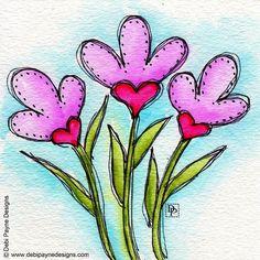 You gotta love Doodle Flower Friday! Doodle Drawings, Easy Drawings, Doodle Art, Love Doodles, Planner, Bible Art, Whimsical Art, Stone Painting, Rock Art
