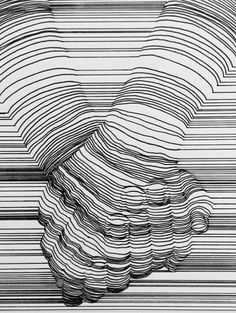 Line Art By Nester Formentera. Nester Formentera (known as Aartfinesse) was born in the Philippines but is based in Dublin, Ireland. For more details view website Illusion Drawings, Illusion Art, 3d Drawings, Elements Of Art, Grafik Design, Drawing Techniques, Op Art, Line Drawing, Art Inspo