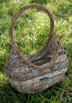 "13"" Birch and Grapevine Basket with Liner $10.99 each / 3 for $10 each-This site has lots of great  just about everything, and at great prices..must check it out completely!"