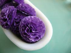 Schaltfläche Mütter Seidenpapier Blumen lila Wedding, Bridal Shower, Baby-Dusche-Dekor