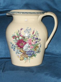Home And Garden Party Floral Splendor Pitcher Flowers 2000 Stoneware