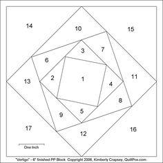 Paper Piecing Patterns Free Printables | vertigo 6inch paperpiece