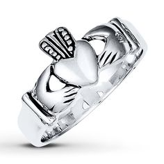 Men's Claddagh Ring  Sterling Silver