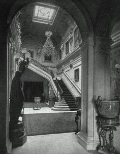The Gilded Age Era: The Astor Double Mansion on Fifth Avenue: the stairwell down which Mrs Caroline Astor fell