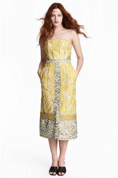 Rochie din țesătură jacard - Galben/cu motive - | H&M RO 1