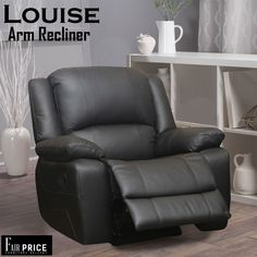 The Louise recliner is one of the best available from our collection. These are crafted with Genuine Leather. the ultra-cushioned seats give you the ultimate comfort. The reinforced stitching ensures the better quality.