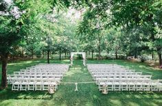 With all the large hotels and resorts in Phoenix, it can be tough to find a wedding venue that's off the beaten path. Venue at the Grove is precisely that, offering gorgeous green lawns filled with pecan trees as a wedding arbor. | Photo Credit: Andrew Jade