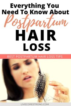 Are you suffering from postpartum hair loss and are wanting to learn more about how to treat it? Want to know if it's normal or if what you are experiencing is something you should be concerned about? There are treatments and natural ways to decrease the process that takes places after having a baby. Continue reading to learn what postpartum hair loss is caused by, how it can be treated and what other factors play a big role in the overall outcome of postpartum hair loss. #postpartumh Hair Loss After Pregnancy, Postpartum Hair Loss, Postpartum Body, Postpartum Care, Postpartum Recovery, Post Pregnancy, Body After Baby, Stop Hair Loss, Breastfeeding