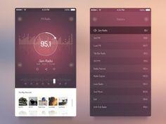 1x1.trans  FM Radio UI   iOS 7 App