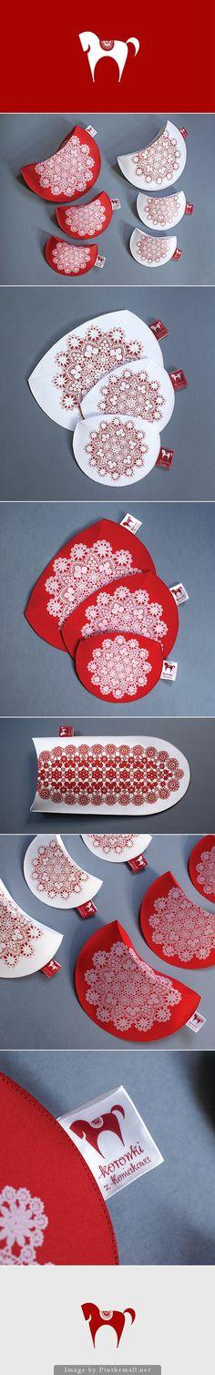 Koniaków: Beautiful #packaging promoting regional Koronki z Koniakowa lace souvenirs curated by Packaging Diva PD created via https://www.behance.net/gallery/5662263/Koronki-z-Koniakowa-Packaging