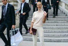 Aymeline Valade with a Chloé bag