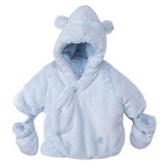 Absorba Childrens Designer Clothes - Baby Boy Blue Pram Coat - Dandy Lions  Boutique Designer Kids f76d8768bd55