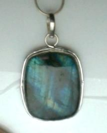 AWESOME FLASH~ BIG LABRADORITE PENDANT 925 SILVER BAIL SETTING -FREE SHIPPING-FREE 925 SNAKE CHAIN