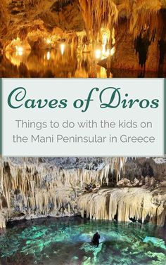 REVIEW: Looking for somewhere to take the kids on the Mani Peninsular of the Peloponnese in Greece? The Caves of Diros are a beautiful natural phenomenon. Glide through the many miles of caves in your own rowing boat. Beautifully lit stalactites and stalagmites. A great day out for the kids in Greece.