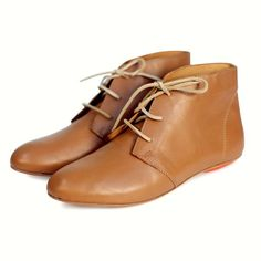 Caramel Leather Nomad Bootie | Sseko Designs  #Flat #Ankle #Booties