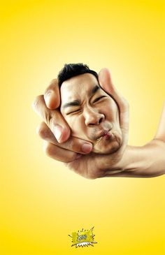 Squeezed Head Ads: The Sour Lemon Candy Campaign Revolves Around Super Puckered Faces (by Bangkok Showcase, Bangkok, Thailand) Ads Creative, Creative Advertising, Advertising Poster, Creative Photos, Advertising Design, Advert Design, Advertising Campaign, Creative Ideas, Graphic Design Tips