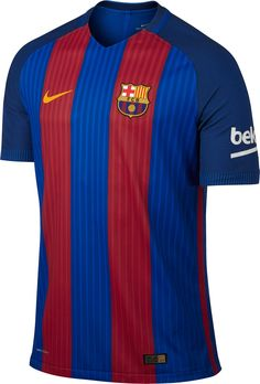 6958d13365d The Barcelona 16-17 kit is blue with red stripes, ditching the hoops look ·  Fc BarcelonaBarcelona JerseysBarcelona ...