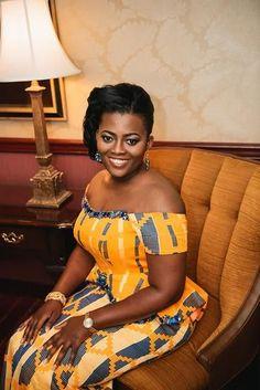 I Do Ghana | Bride: Roslyn | Photos: Prince Agymang | Mua: Pokuaa Bellefemme | Gown: Pistis | Kente Bride