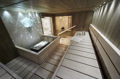 Saunagalleria I SUN SAUNA Oy I Ideoita saunaremonttiin, saunaideat Modern Saunas, Sauna Design, Stairs, Bath, Sun, Home Decor, Country Houses, Stairway, Bathing