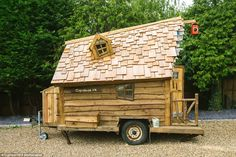 On the move: Also in contention for Shed of the Year 2015 is the mobile Pixie Cabin (pictured) owned by Mark Burton from Surrey