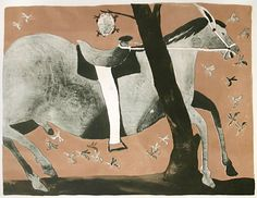 Francisco Toledo. Untitled (Wasp Nest and Horse), c. 1970. Lithograph. Unsigned Color proof.  http://www.davidsongalleries.com/artists/toledo/toledo.php