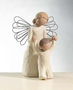 Guardian Angel, Willow Tree® Angels by Demdaco are designed by Susan Lordi to express heartfelt sentiments Godparent Gifts, Baptism Gifts, Baptism Ideas, Godchild, Boy Baptism, Godparent Ideas, Confirmation Gifts, Christening Gifts, Willow Tree Engel