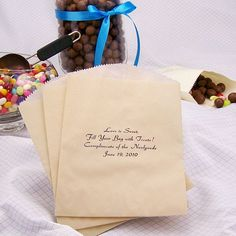 candy buffet - personalized favor bags