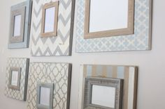 Wall Grouping of Distressed Picture Frames by deltagirlframes Distressed Picture Frames, Picture Frame Decor, Wall Groupings, Frames On Wall, Photo Restoration, Frame It, Home Staging, Beach Themes, Decorating Ideas