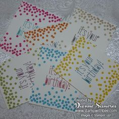 A Six Pack of Birthday Cards by stamperdianne - Cards and Paper Crafts at Splitcoaststampers