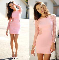 Motel Rocks Goldie Bodycon Mesh Dress, Boutique 9 Pink Heels