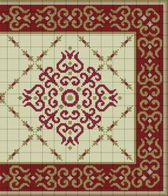 Bordeaux Rug of Cross Stitch Sampler Patterns, Cross Stitch Borders, Needlepoint Patterns, Cross Stitch Designs, Cross Stitching, Cross Stitch Patterns, Diy Embroidery, Cross Stitch Embroidery, Pinterest Cross Stitch