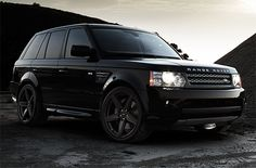 Black Range Rover With Matte Rims