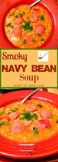 This navy bean soup recipe pairs the smooth taste of navy beans with the bold and delicious flavor of smoked sausage.
