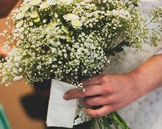 Baby's breath bouquet with character. For summer add daisies and queen Anne's lace to add even more beauty. Perfect Wedding, Our Wedding, Wedding Things, Wedding Stuff, Wedding Bouquets, Wedding Flowers, Lace Bouquet, 1960s Wedding, Wedding Venue Decorations