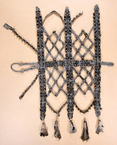Lattice work horse barding, likely belonging to Queen Kristina, about 1600 Livrustkammaren INVENTORY NUMBER 4455 (867)