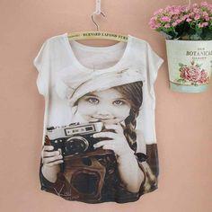 Photo photographer women's tops short-sleeved t-shirt ladies