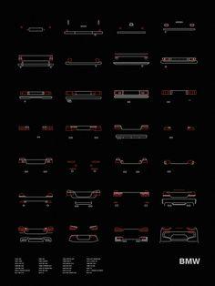 Auto Icon Screen Print Series: BMW Tail Lights