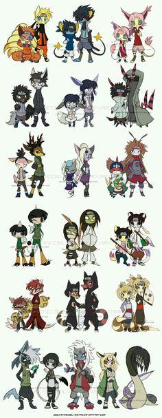 Naruto characters as pokémon